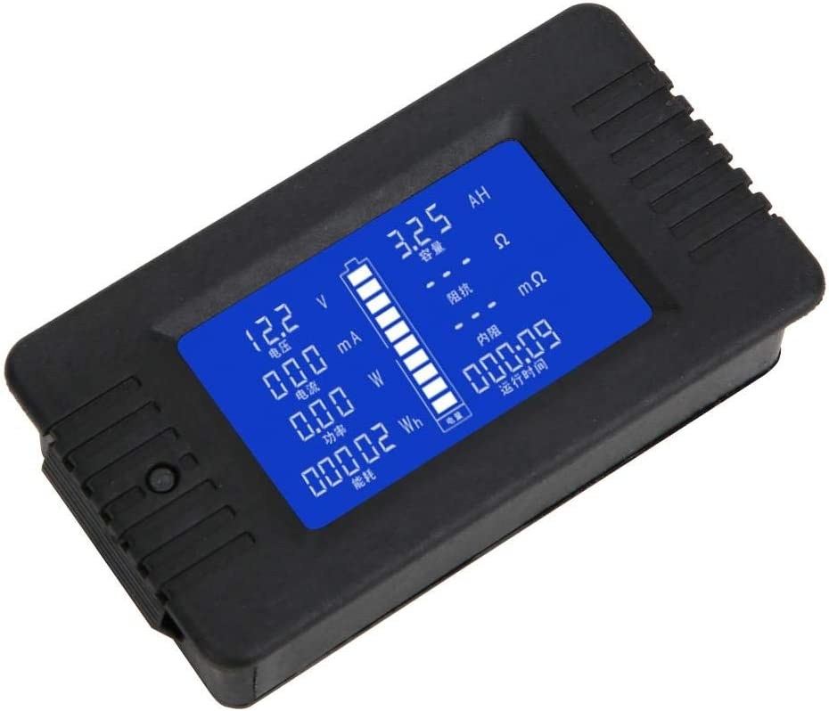 PZEM-015 0-200V 0-300A LCD Display Battery Current Voltage Power Energy Capacity Impedance Tester Checker with 300A Shunt with 015 English 300A Shunt ViaGasaFamido Battery Monitor