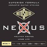 Rotosound NXA11 - Juego de cuerdas para guitarra acústica de fósforo/bronce,...