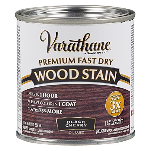 Varathane 262028 Premium Fast Dry Wood Stain, Half Pint, Black Cherry