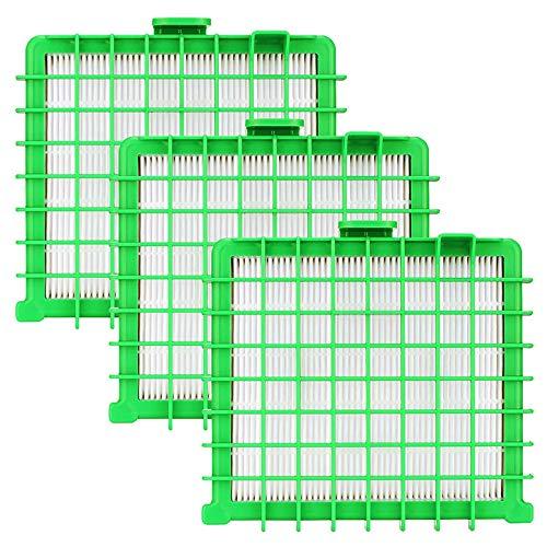 Queta 3 Pezzi Filtro HEPA per Rowenta H13 RO5762, ZR002901 Filtro HEPA per Rowenta Silence Force, X-Trem Power