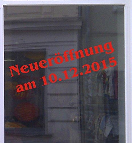 Don Cappello Neueröffnung mit Datum Schaufensterbeschriftung Aufkleber Werbung Auto Laden Rot 1 Stück 120 cm