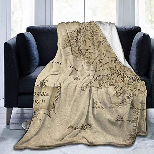 N \ A Mittelerd-Karte, Herr der Ringe, ultraweiche Micro-Fleece-Decke, Forcouch-Fell-Plüsch-Überwurf, Decken für geeignete