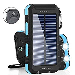 Get a solar powered charger (with flashlight) AFFILIATE)
