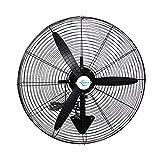Ventilador de pared, ventilador de enfriamiento, tres velocidades, movimiento de cabeza, adecuado para la industria, 50 cm (20 pulgadas), 65 cm (26 pulgadas), 75 cm (30 pulgadas) tres tamaños
