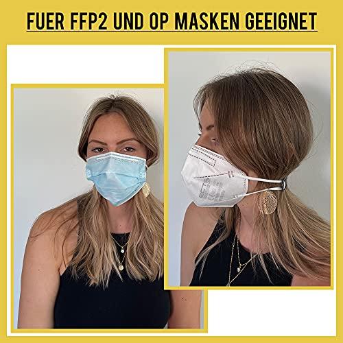 Coco Blanco Masken Verlängerung Hinterkopf (10 Stück) für Mundschutz & Masken I Verstellbarer Nacken Maskenhalter aus Silikon I Maskenband Halter