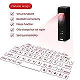 ZUEN Wireless Bluetooth Laser Virtuelle Projection Keyboard Laser Englisch QWERTY-Tastatur Mit Zoom-Funktion Geeignet Für Smart Phone...