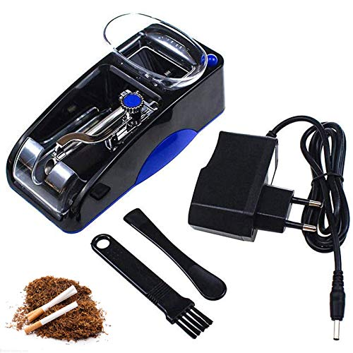 DSYYF Zigarettenfüllmaschine, elektrische einfache automatische Maschine Plastik + Metall, DIY Automatische Tabakrolle Zigarren Humidore,Blau