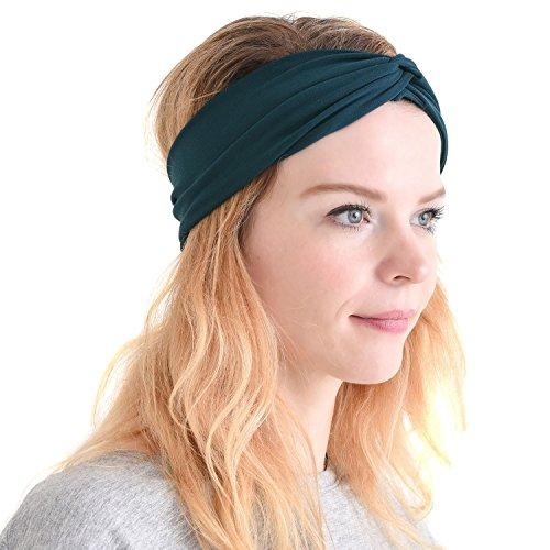Charm Damen-Stirnband, Bandana zum Laufen– elastisches Schweißband für den Kopf, Herren -  Grün -  Einheitsgröße