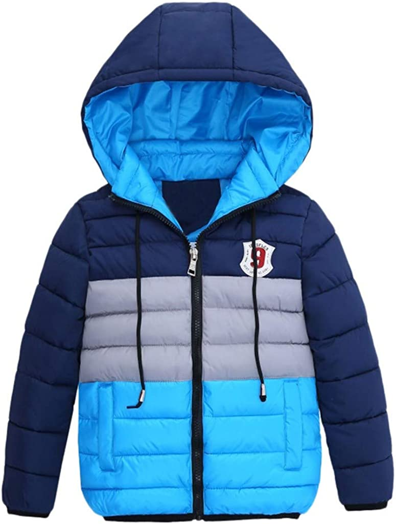 Digood At the price Boys Fort Worth Mall Hooded Coat Winter Printed Kids Child Striped Hoodie