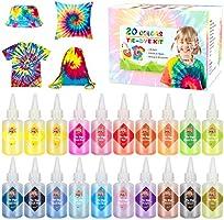 Emooqi Tie Dye Kit, Textiles de Tela 8 Piezas Colores Vibrantes Adecuado para Arte de Bricolaje Tie-Dye para Niños y Adultos