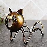 KMYX Simple Fer Art Animal Étagère Méchant Singe Ou Greedy Chat Cabinet de Vin Ornements Humour Bar Décorations Titulaire de Vin Créativité Vin Étagère Petit Cadeau (Taille : Style B)