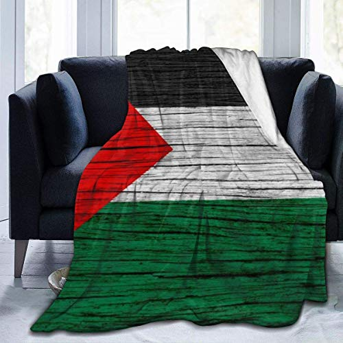 OUSHENGMAOYI Palestina Textura Madera Bandera Palestina,Mantas De Cama,Tirar Una Manta,Manta Cálida A Cuadros,Colcha Suave,Oficina Manta De Sofá,Manta Micro Terciopelo,Cubierta De Cama L