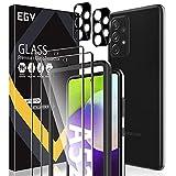 EGV Schutzfolie Kompatibel mit Samsung Galaxy A52 Panzerglas, mit Null Fehler Positionierhilfe, 2 Folie & 2 Kamera Schutzfolie, 9H Festigkeit Folie, HD Klar Bildschirmschutzfolie