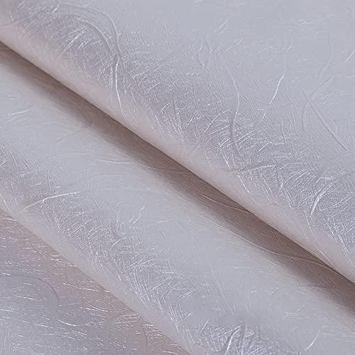 MUYUNXI Polipiel Cuero Artificial De Cuero para Tapizar Sofá Polipiel Silla Manualidades Cojines 138 Cm De Ancho Vendido por Metro(Color:Blanco)