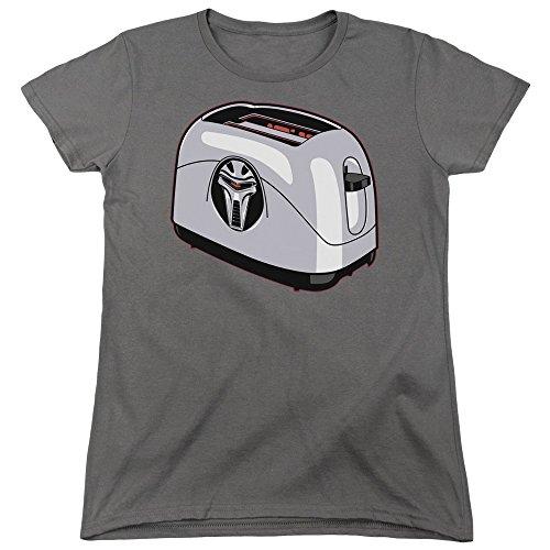 Battlestar Galactica Frauen Toaster T-Shirt, X-Large, Charcoal