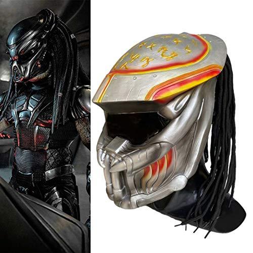 Alien Vs. Predator Mask with Dreads Hair Airsoft Legion CS BB Evil Horror Scary Full Head Latex Movie Game Mask Cosplay…