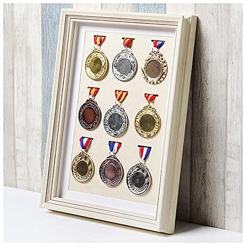 OVBBESS Marco para Mostrar medallas,Medalla Deportiva Marcos de Fotos de Caja 3D,Marco de exhibición de Medalla de...