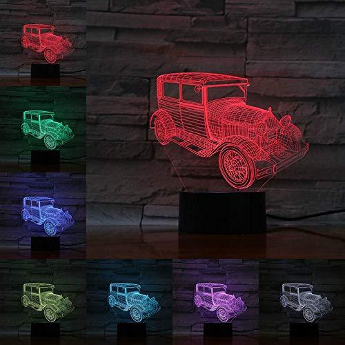 3D Lampe Blase Auto Nachtlicht Taschenlampe Weihnachtsdekoration Heimdekoration LED-Beleuchtung Angefragt USB-Kabel FFFCJYQ
