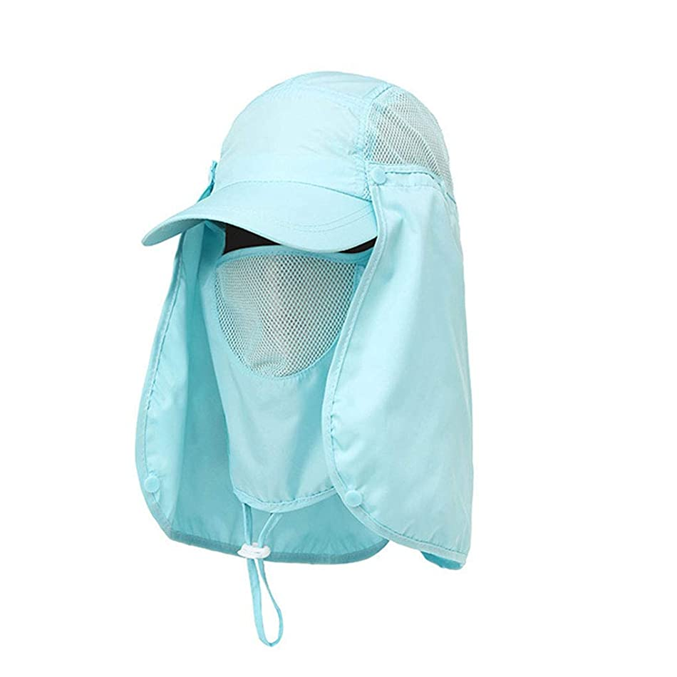 奨励しますファッションノートKOROWA 全8色 UVカット帽子 首まですべてをガード 炎天下での紫外線?熱中症対策に 登山 釣り キャップ フィッシング 日焼け防止 着こなし4パターン セパレート式 男女兼用