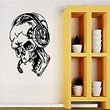 yaonuli Creativo Vinilo música Auriculares calcomanía Videojuego Jugador Creativo Etiqueta de la Pared decoración del hogar Fondo de Pantalla 45x75cm