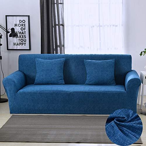 ASCV Funda de sofá elástica Fundas de sofá de algodón Fundas Ajustadas Fundas de sofá Todo Incluido para Sala de Estar Funda de sofá para Mascotas A7 3 plazas