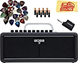 Boss Katana Air Guitar Amplifier Bundle with 8 AA Batteries, 24 Picks, and Austin Bazaar Polishing Cloth