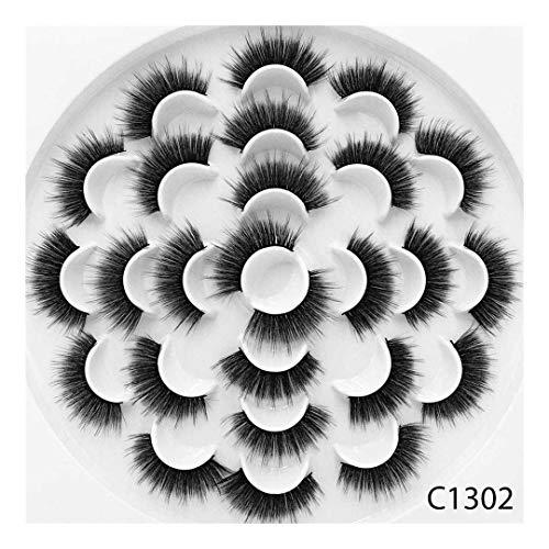 13 paires Faux 3D Vison Cils Naturel Long Faux Cils Volume Faux Cils Maquillage Extension Cils Maquiagem (Color : 8)