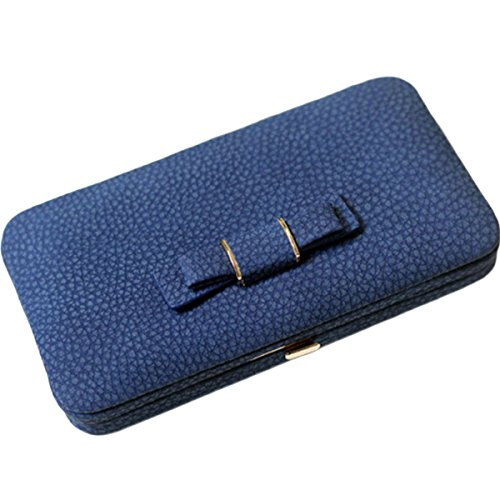 Women Phone Clutch Wallet, TraderPlus Multi-purpose Long Style Leather Clutch Handbag Bow-Knot Purse Cellphone Case for iPhone X/ 8/8 Plus/ 7/7 Plus/Galaxy S8/ S7/ S7 edge Gray