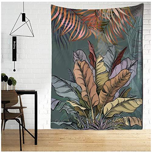 KBIASD Flamingo Tapiz de Planta Verde baño Estampado de Flores Cactus Ducha Tela Colgante decoración del hogar Tapiz 150x130cm