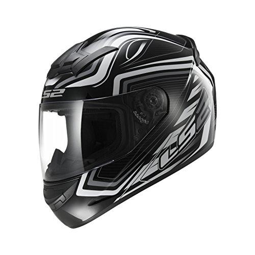 LS2Motorrad Helm FF352Rookie Ranger, schwarz/weiß, XXS