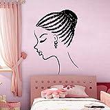 Ajcwhml Jeune Fille Africaine de la Mode Sticker Mural Salon de beauté Femme Visage Style Africain Papier...
