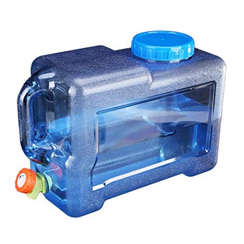 Lushandy Wasserspender mit Wasserhahn Wassertank Wasserkanister,5L/7.5L/10L/12L/15L Wasserkanister mit Hahn,Trinkwasserkanister Camping,Getränke Wasserkanister,Lebensmittelecht,Transparent (12L)