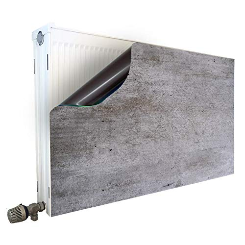 Smagnon Magneet radiatorombouw radiatorafdekking verwarming bescherming motief beton-wand, radiator hoogte: 60 cm, radiator lengte: 60 cm
