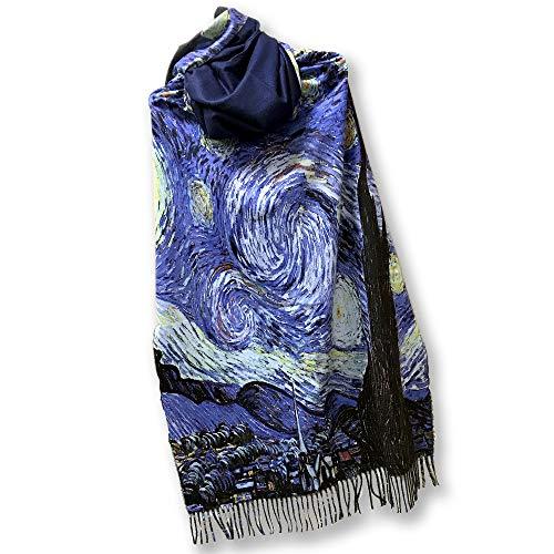 all sas Sciarpa in Cashmere con frange Van Gogh | Notte stellata
