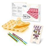 Lumaland Cuisine Teglia/Stampo da Forno in silicone da 20 Cake-pops o stick cake, inclusi ...