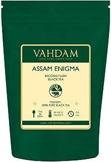 VAHDAM, 2019 Harvest Assam Enigma Second Flush (50 Cups) | RICH, MALTY Assam Tea Loose Leaf | 100% PURE ASSAM BLACK TEA Loose Leaf | Black Tea Leaves with GOLDEN TIPS | Brew as Hot, Iced Tea | 3.53oz