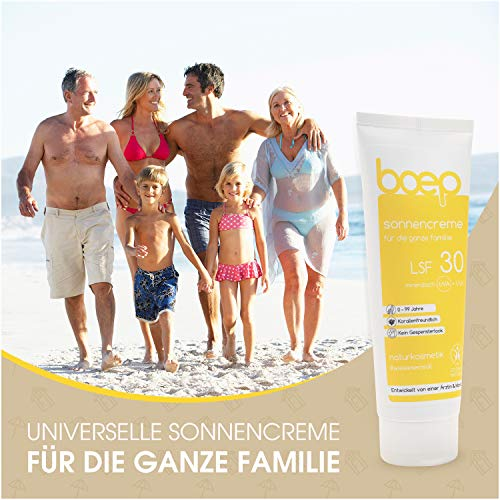 boep Sonnencreme LSF30 - Mineralischer Sonnenschutz für die ganze Familie - Vegane Naturkosmetik Sonnencreme für Babys, Kinder und Erwachsene (100ml)