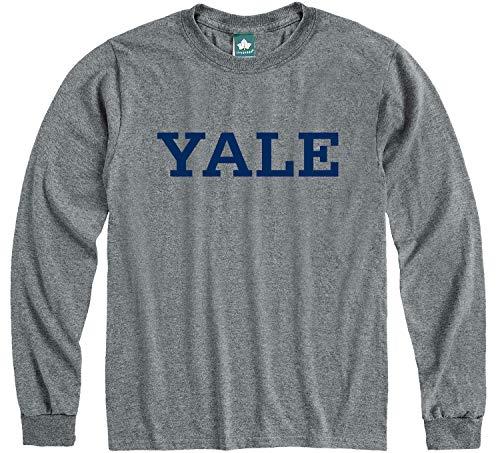 Ivysport Yale University Bulldogs Long Sleeve T-Shirt, Classic, Charcoal Grey, Large