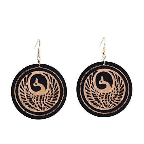 Damen-Ohrstecker Ohrringe Afrikanische Runde Blaue Skulptur Vögel Aussage Ohrringe Fashion Drop Schmuck Ethnische Anhänger Ohrringe Für Frauen