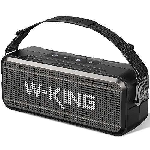 60W Bluetooth Speaker, W-KING Loud Wireless Portable Speaker with Built-in 8000mAh Power Bank - IPX6...