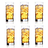 FFFLY Juego de 6 Copas de Cristal Transparente sin vástagos, Vino Transparente, Indestructible Botella de Vino Creativa Personalizada Vaso de Agua 300 ml, Copa de Vino