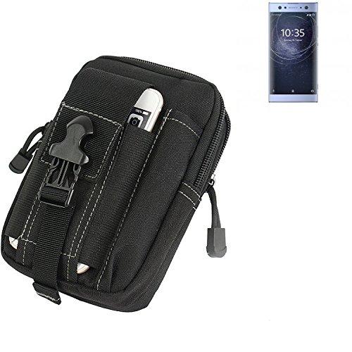 K-S-Trade Gürtel Tasche Für Sony Xperia XA2 Ultra Dual-SIM Gürteltasche Holster Schutzhülle Handy Hülle Smartphone Outdoor Handyhülle Schwarz Zusatzfächer