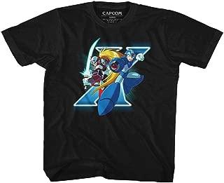 Mega Man Capcom Video Game 1987 X and Zero Characters Youth T-Shirt Tee