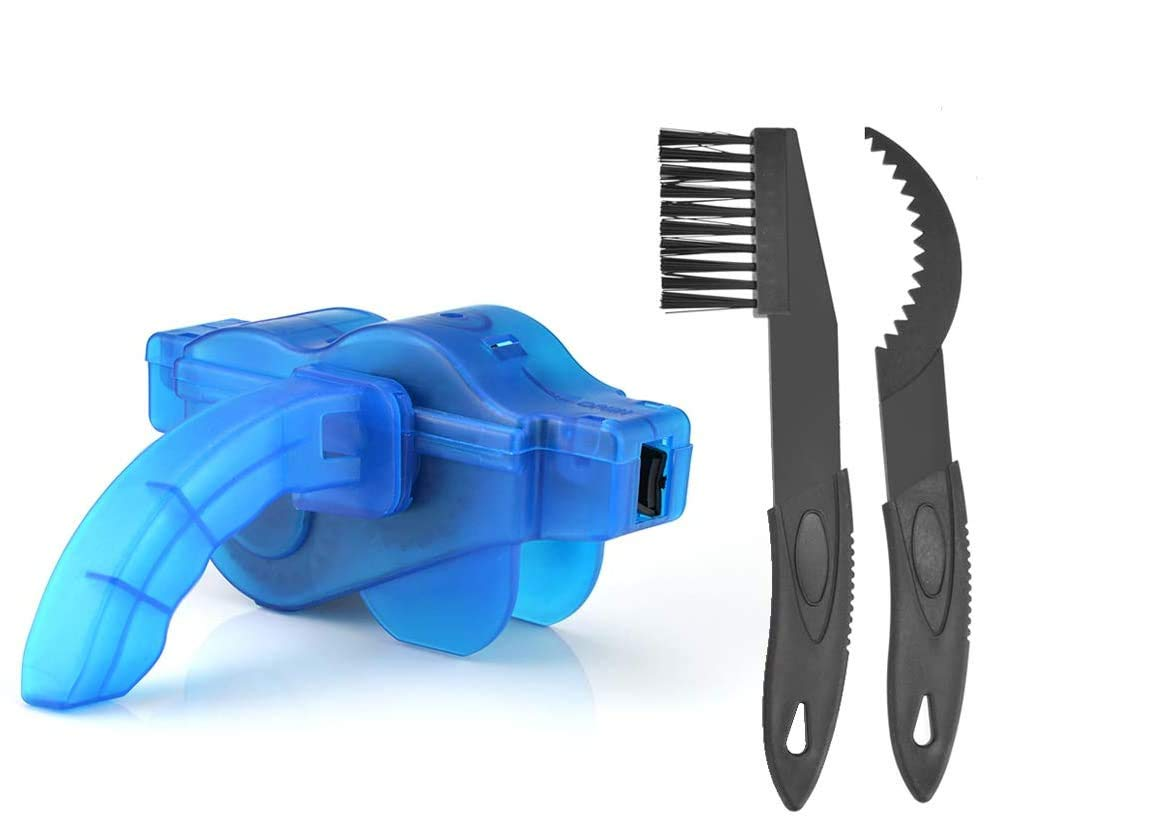 FLZONE Kit de Cepillo de Limpieza de Bicicletas,Bicicleta Herramientas de Limpieza con Cepillo de Cadena de engranaje para Limpiar Cadenas,Neum/áticos,Pi/ñones
