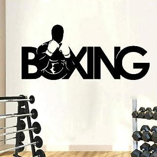Boks Sport Człowiek Jaskinia Naklejka Ścienna Siłownia Ćwiczenia Fiting Box Gracz Naklejka Ścienna Pokój Chłopiec Gimnasty...
