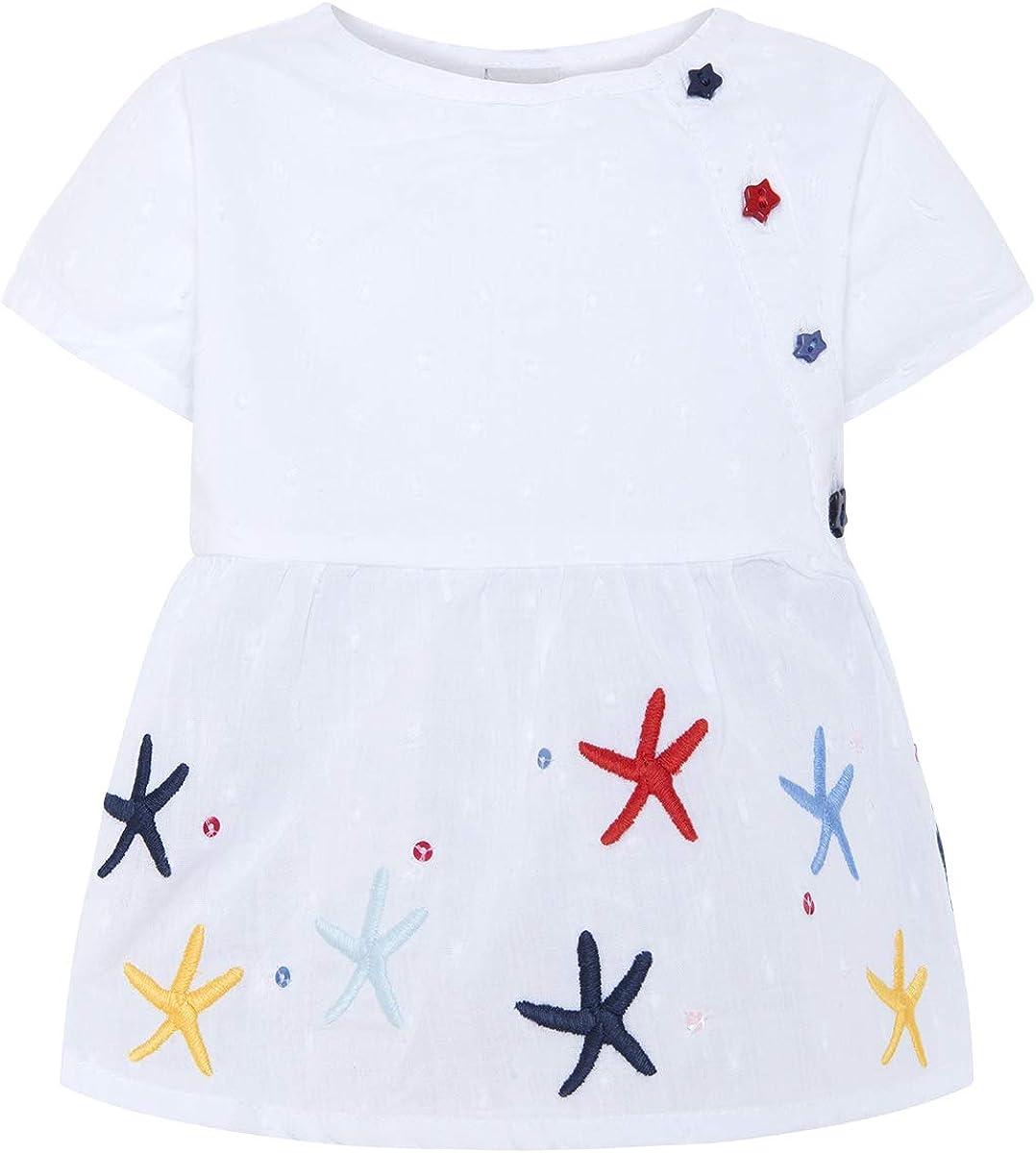 Tuc Tuc Camisa Popelín Niña Arrecife de Coral Camiseta para Bebés
