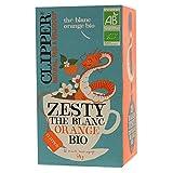 Clipper Zesty Thé Blanc Orange Bio - 20 Sachets Non Blanchis et Sans Agrafe - 34 g