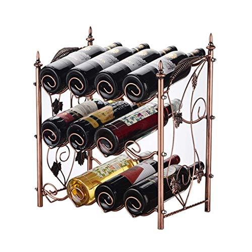 GUOCAO estante del vino del estante de exhibición sala de racks vida en el hogar vino estante de la barra del estante de exhibición estante de mesa forjado del vino del hierro de varias botellas de vi