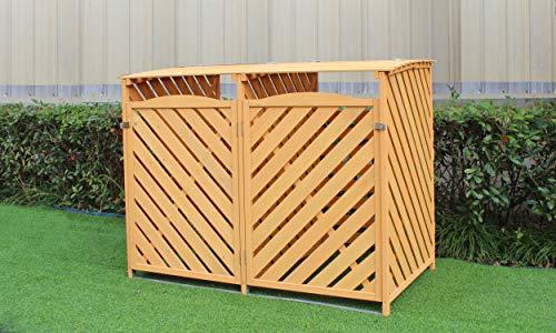 Hanover HANWS0104-NAT 4.9 3 X 4 Ft. Wooden Trash Bin Storage Shed