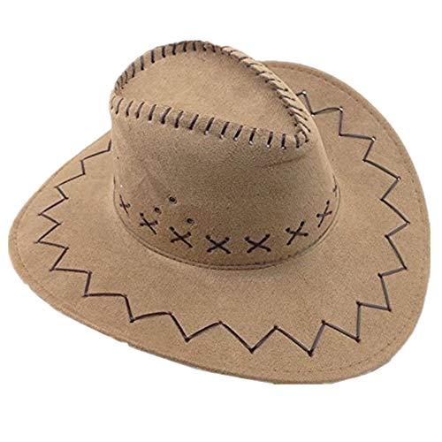 Miobo Cowboyhut - Westernhut für Cowboys & Cowgirls - Karnevals-Kostüm - Hut im Stil Australien/Texas/Western - für Erwachsene - Hellbraun